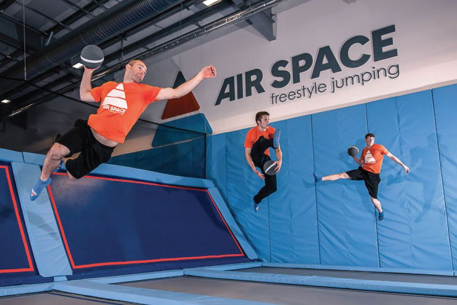 Trampolines and dodgeball – not an everyday job at Airspace