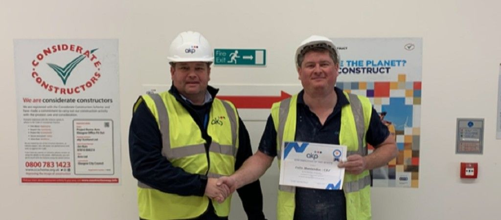 Site Operative of the Month at St Vincent Plaza